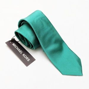 NWT Michael Kors | Blue/Green Silk Tie